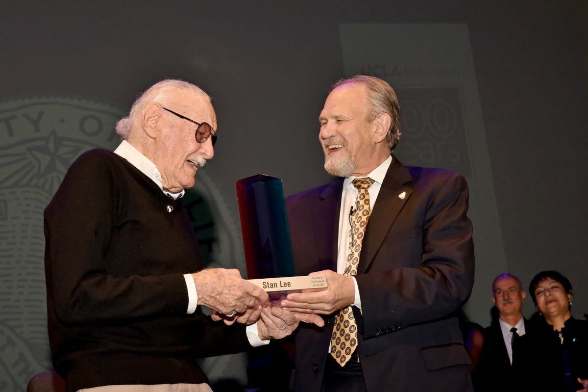 Stan Lee and Wayne Smutz