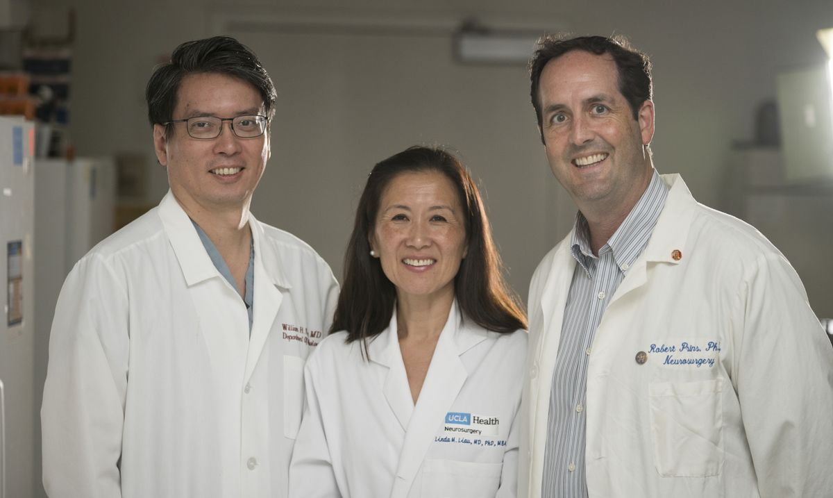 Brain cancer center team