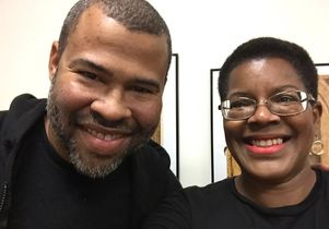 Filmmaker Jordan Peele and UCLA's Tananarive Due