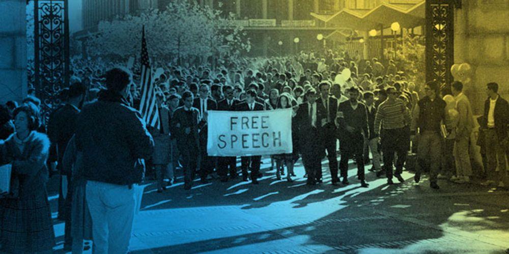 Free speech demonstration