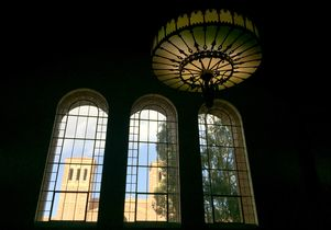 Royce Hall as seen from Powell Library
