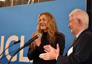 Click to open the large image: Martine Rothblatt and Gene Block