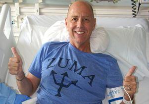 Click to open the large image: Josh Feldman in hospital