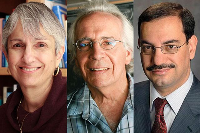 Ann Karagozian, Stanley Osher and Ali Sayed