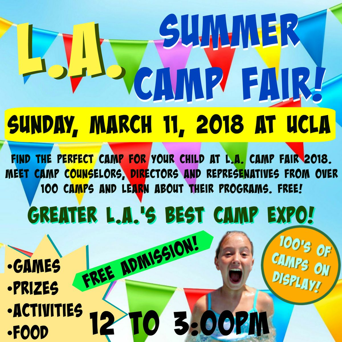 March 11 Find A Summer Program For Your Kids Ucla