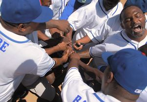 Former gang members play softball together