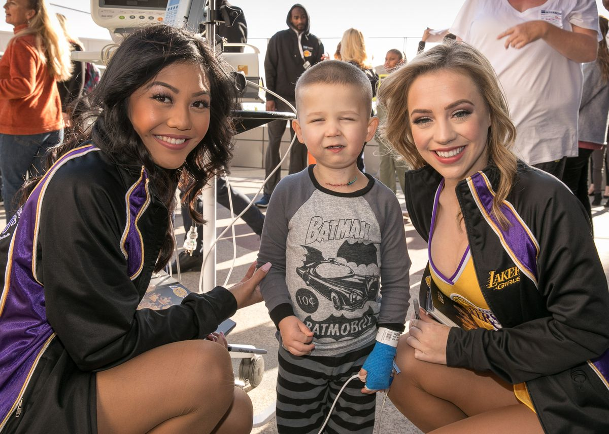 Laker Girls at UCLA Mattel Children's Hospital