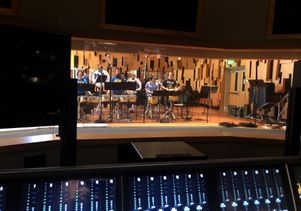 UCLA Bruin Marching Band seen from control room