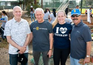 UCLA volunteers at VA Veterans Garden