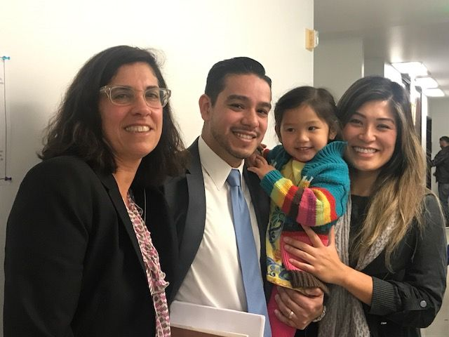 Judy London, Luis Perez, and family
