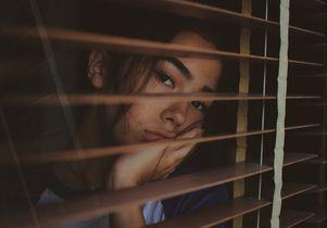 Behind window