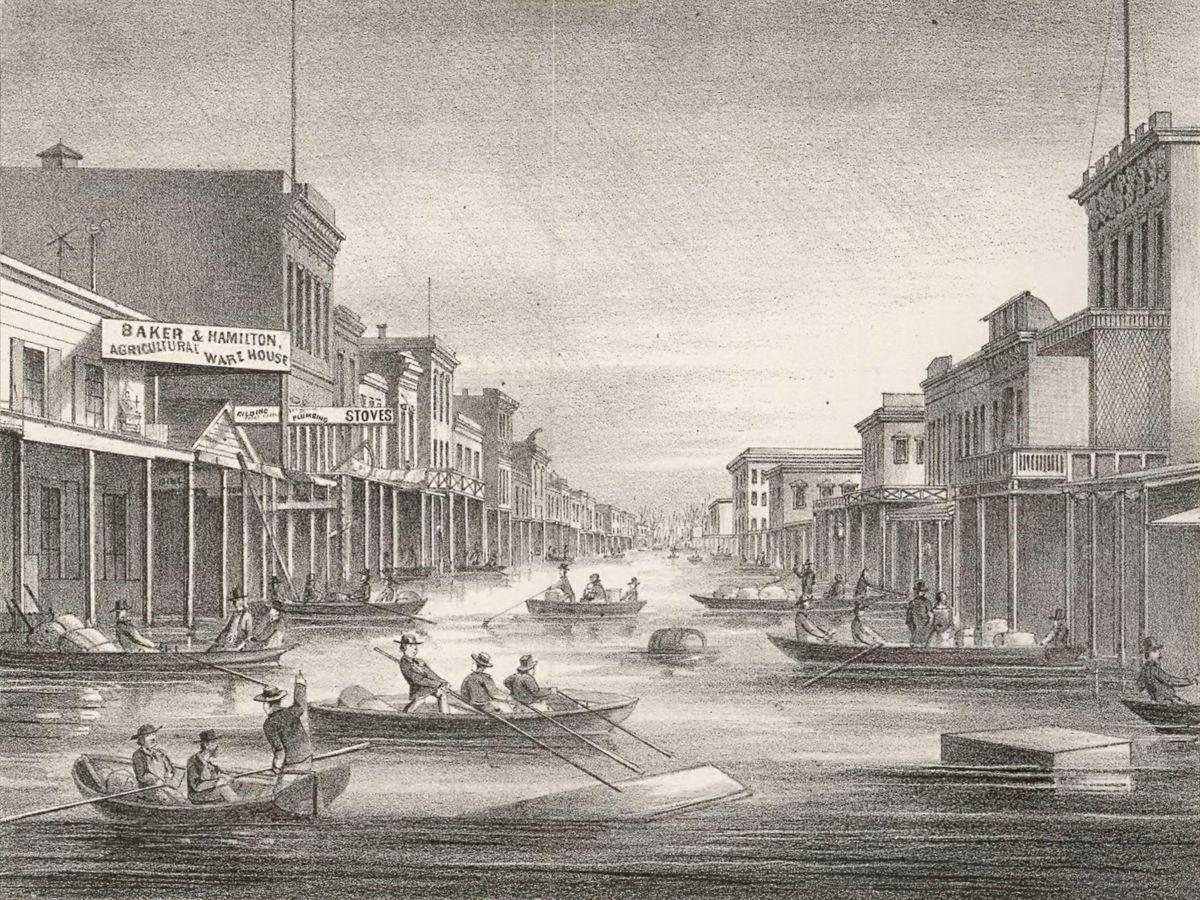 1862 flooding in Sacramento
