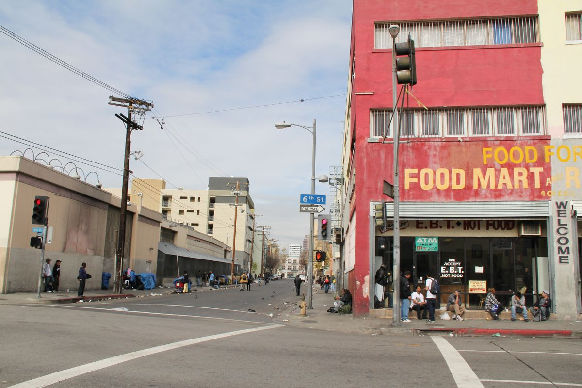 Los Angeles Skid Row at 6th Street