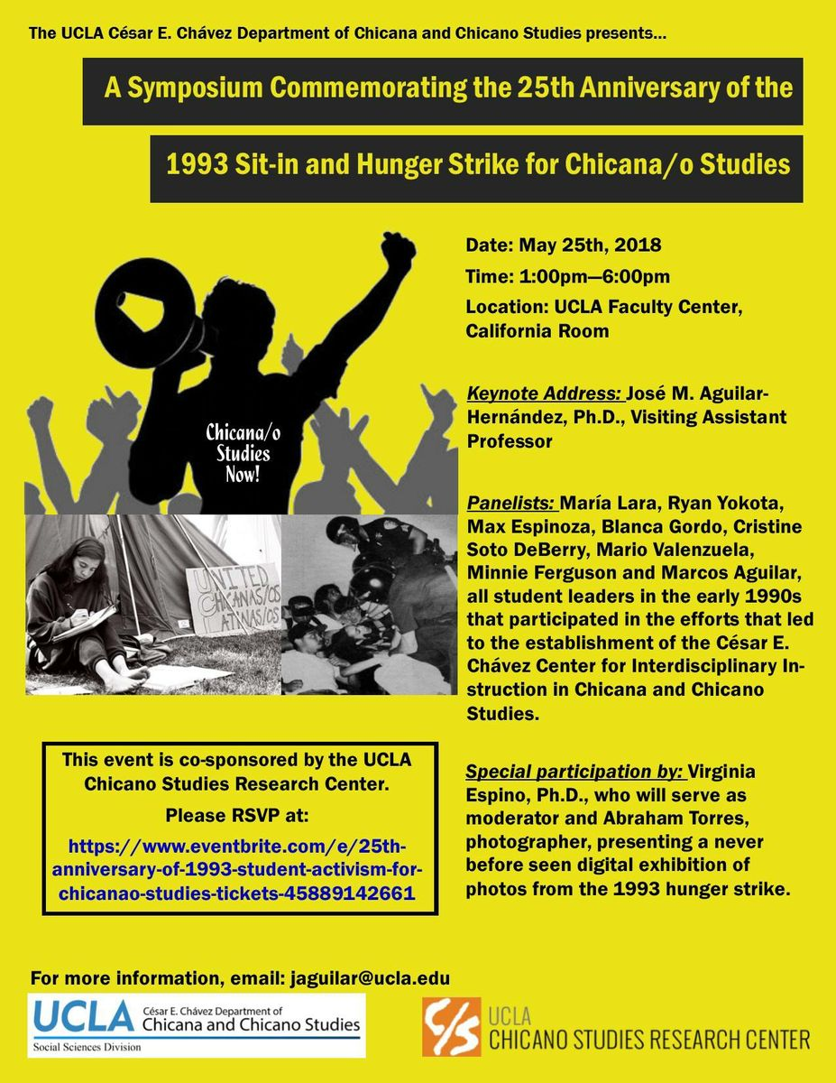 Chicana and Chicano studies anniversary poster