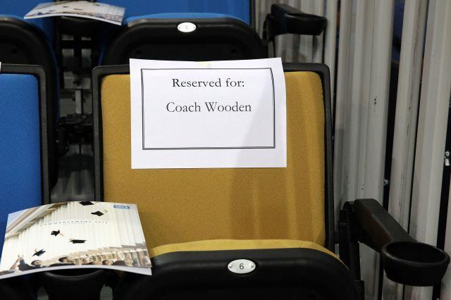 Reserved for Coach Wooden