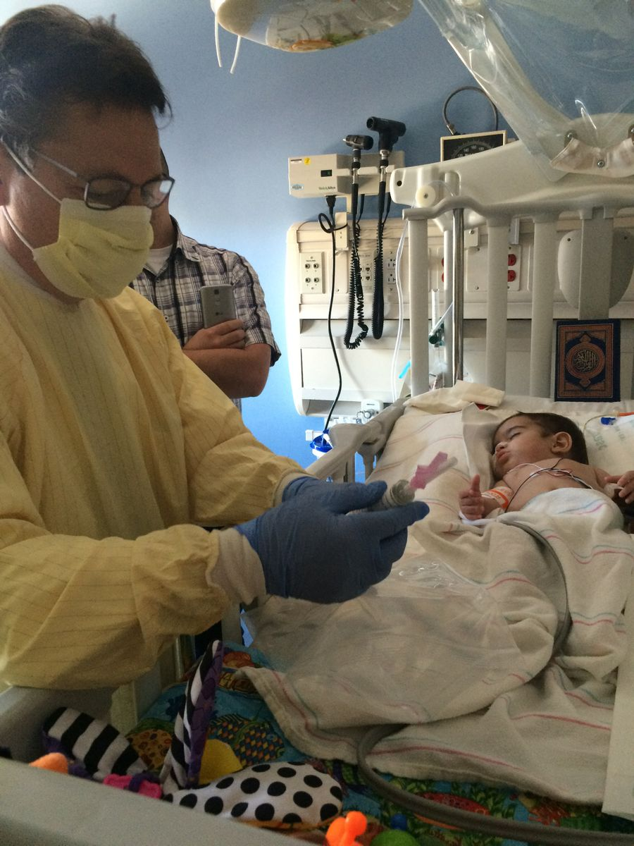 Hussein during stem cell transplant