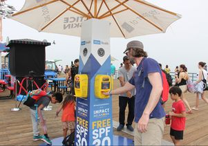 Free sunscreen dispenser