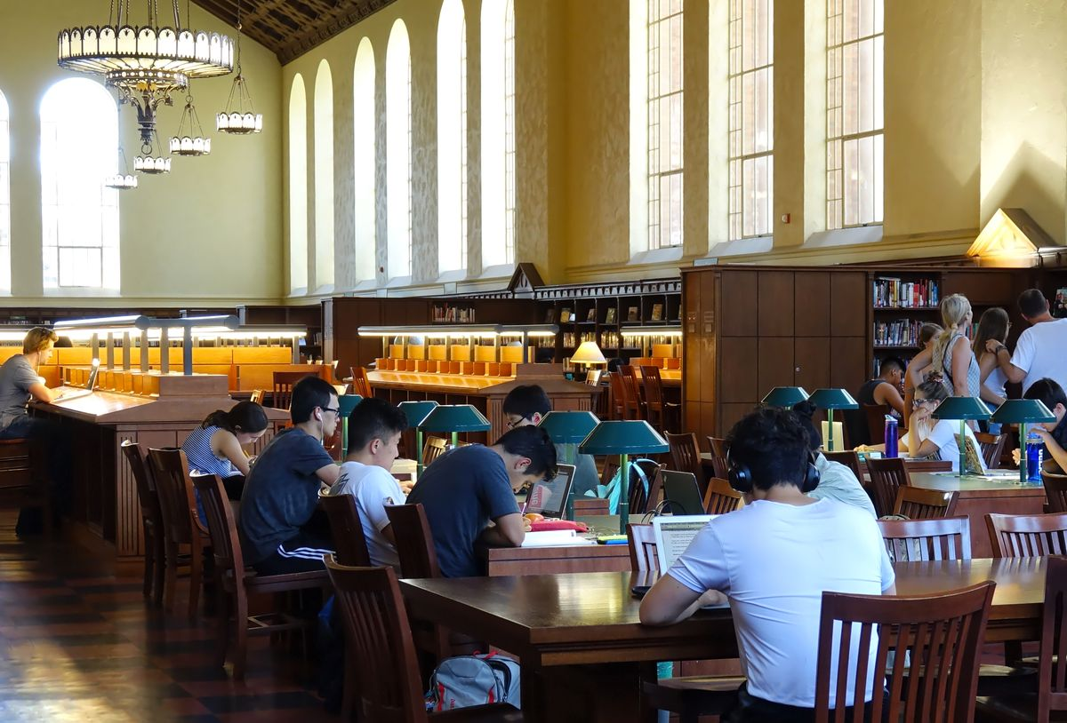 Powell Library reading room