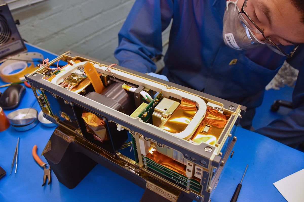 ELFIN flight model assembly