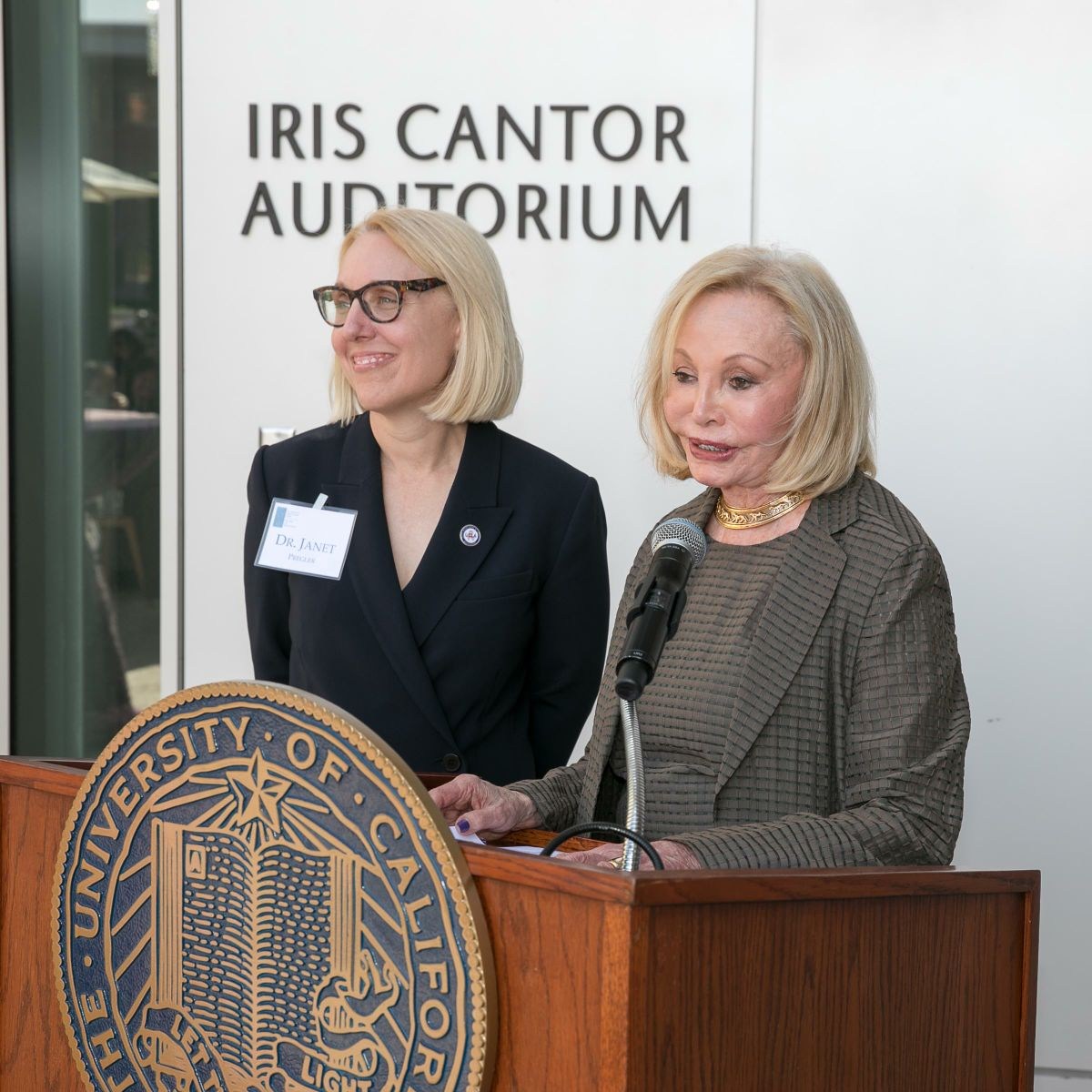 Dr. Janet Pregler and Iris Cantor