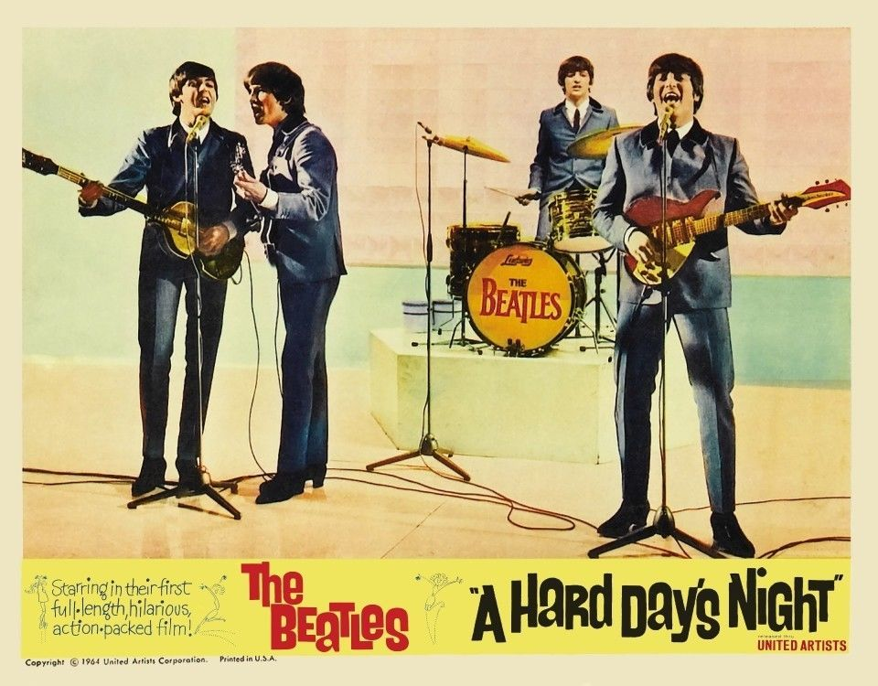 Beatles Hard Days Night poster