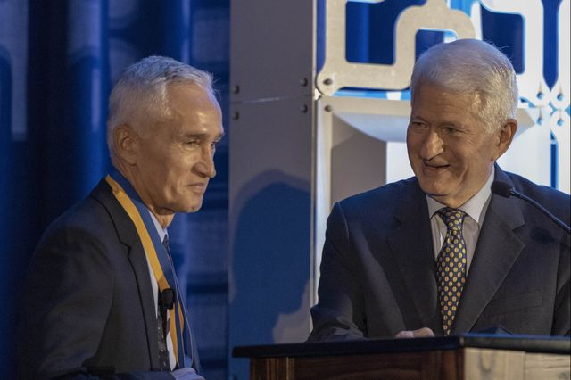 Jorge Ramos and Gene Block