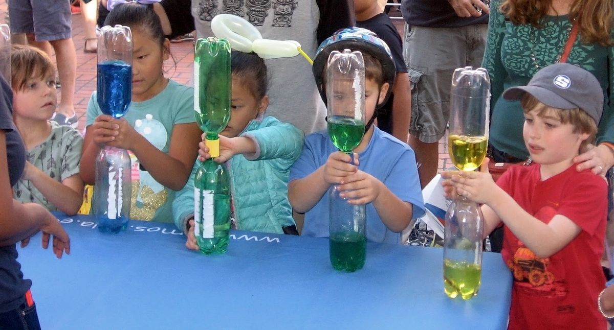 Soda bottle experiment at Exploring Your Universe