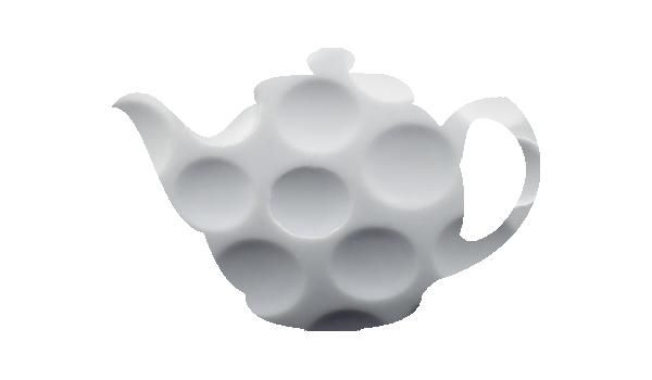 Teapot with golf ball pattern