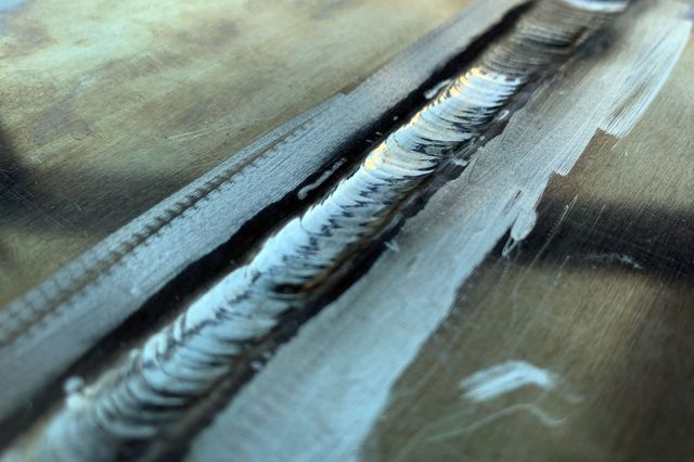 Welded joint with AA 7075