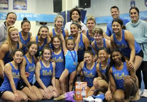 Make-A-Wish kid Joselin Palma with UCLA Gymnastics team