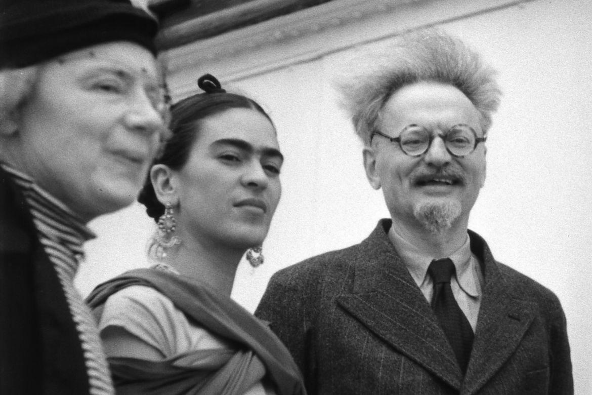 Frida Kahlo and Leon Trotsky