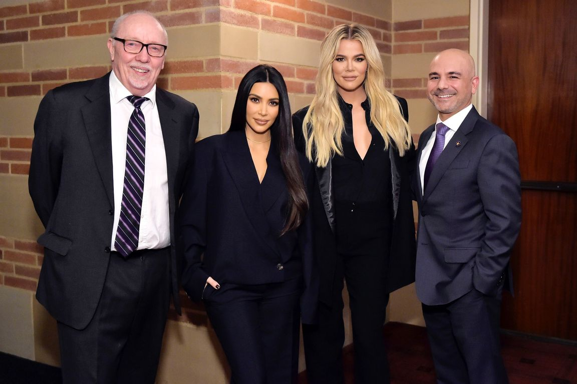Terry George, Kim Kardashian West, Khloe Kardashian and Dr. Eric Esrailian.
