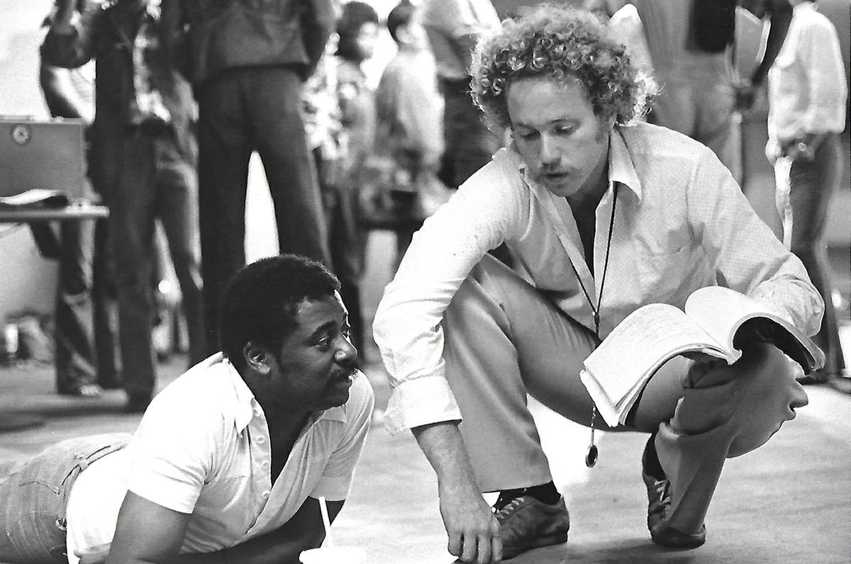 """Dolemite"" Director D'Urville Martin, left, and Nicholas von Sternberg on the set of the 1977 film ""Disco 9000"""