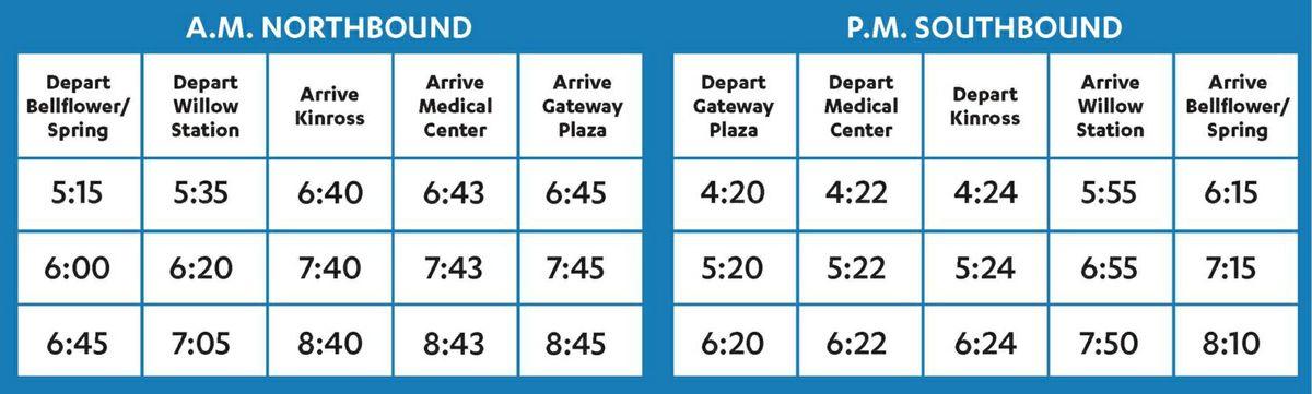 Long Beach Transit timetable