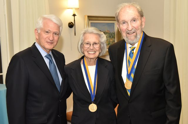 Chancellor Block with Shirley and Ralph Shapiro