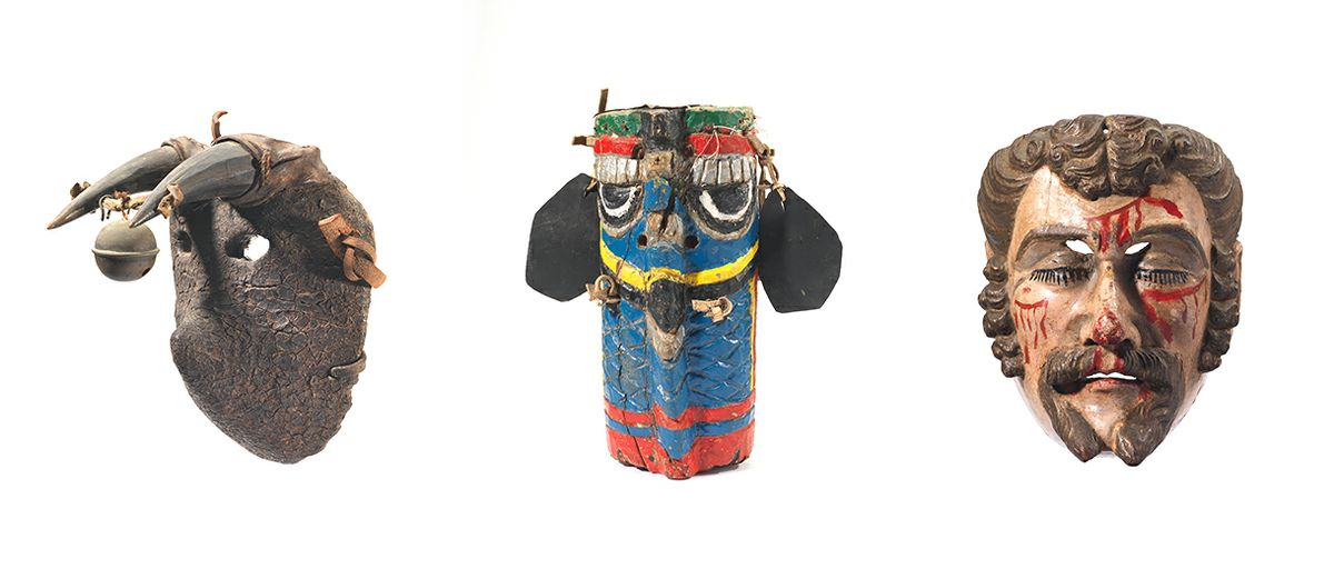 Trio of Guatemalan masks