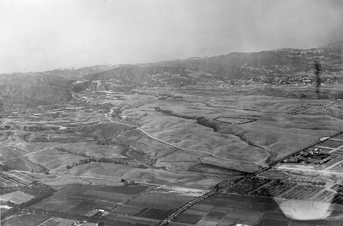 Over Westwood circa 1924.