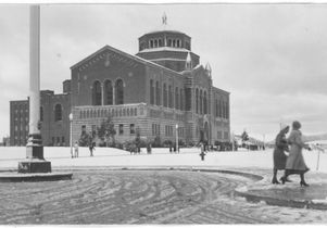 Snow on campus, 1932