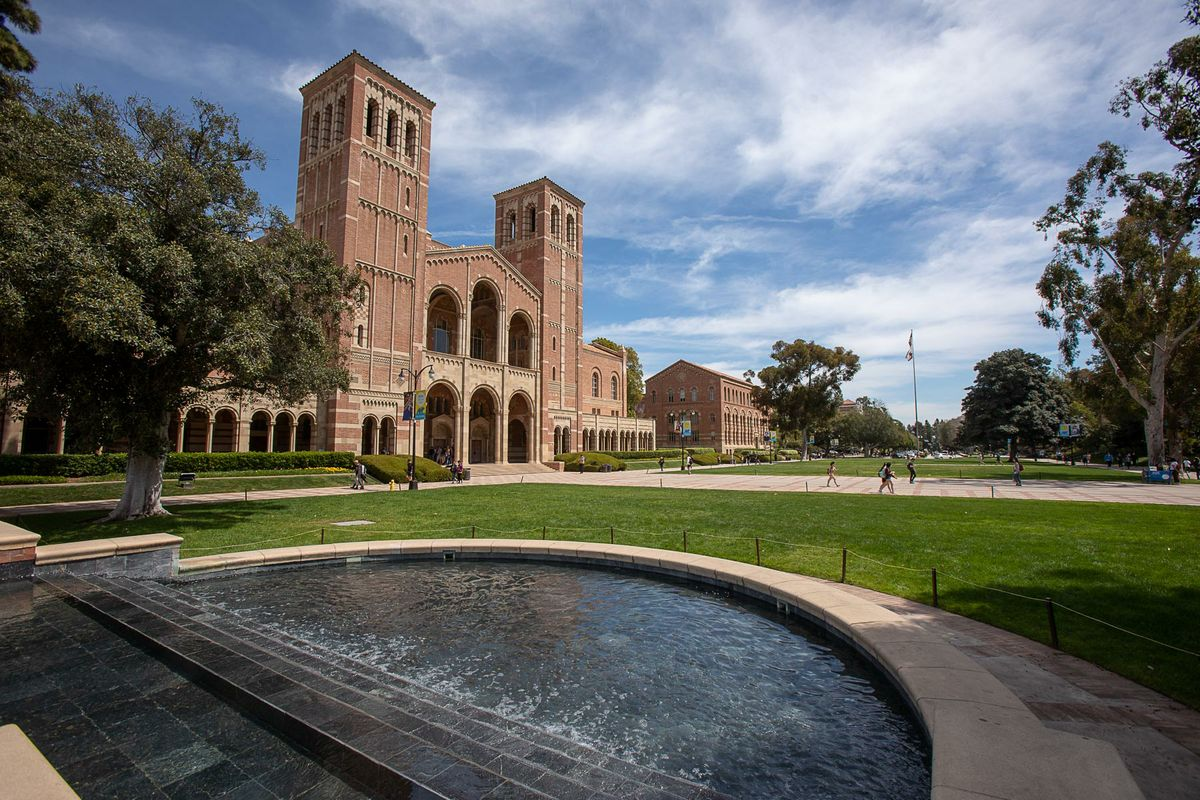 Royce Hall and the Shapiro Fountain