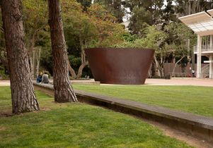 Broad Art Center with Serra sculpture