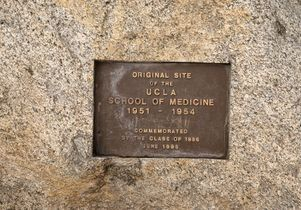 Medical School original site plaque