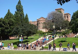 Student activity near Janss Steps
