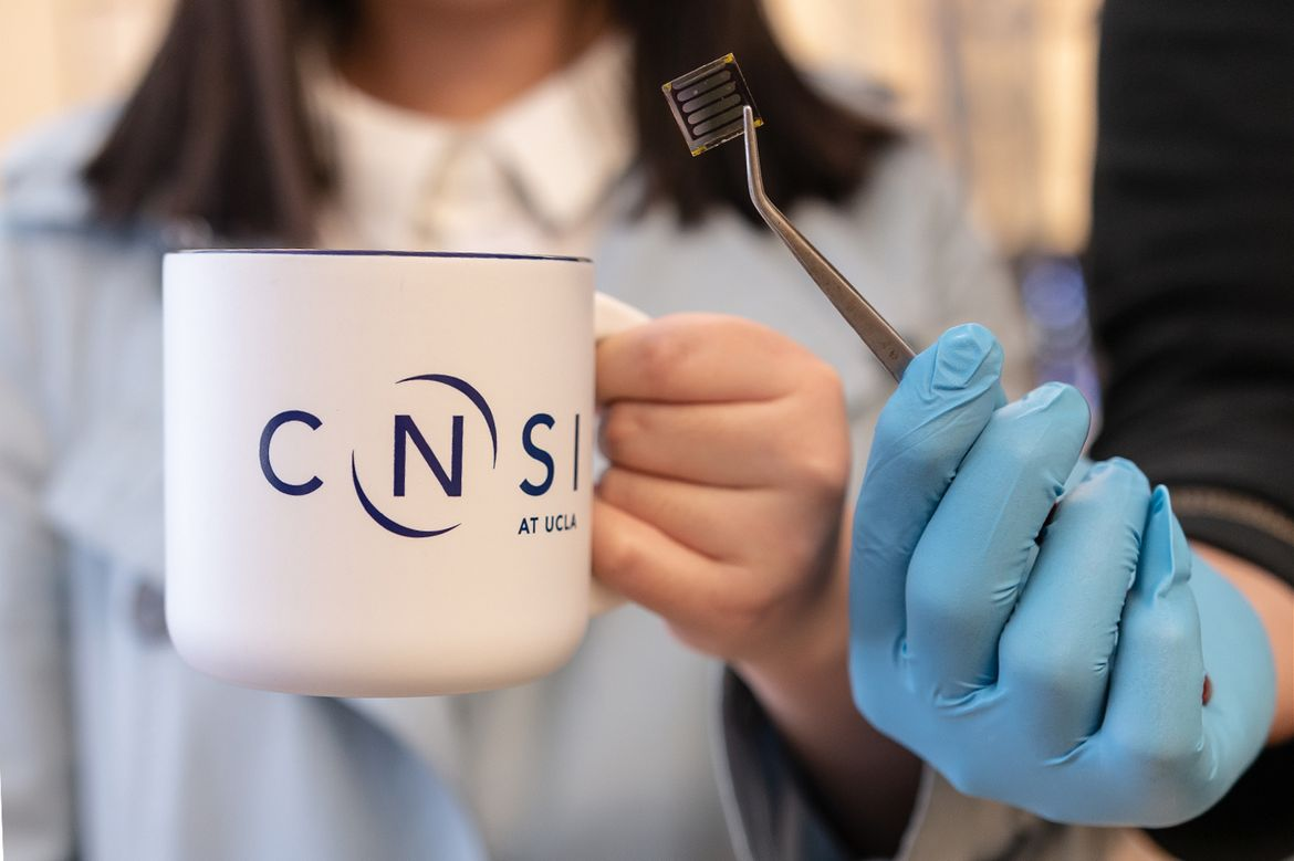 Coffee cup and solar cell