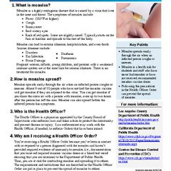 Measles FAQ