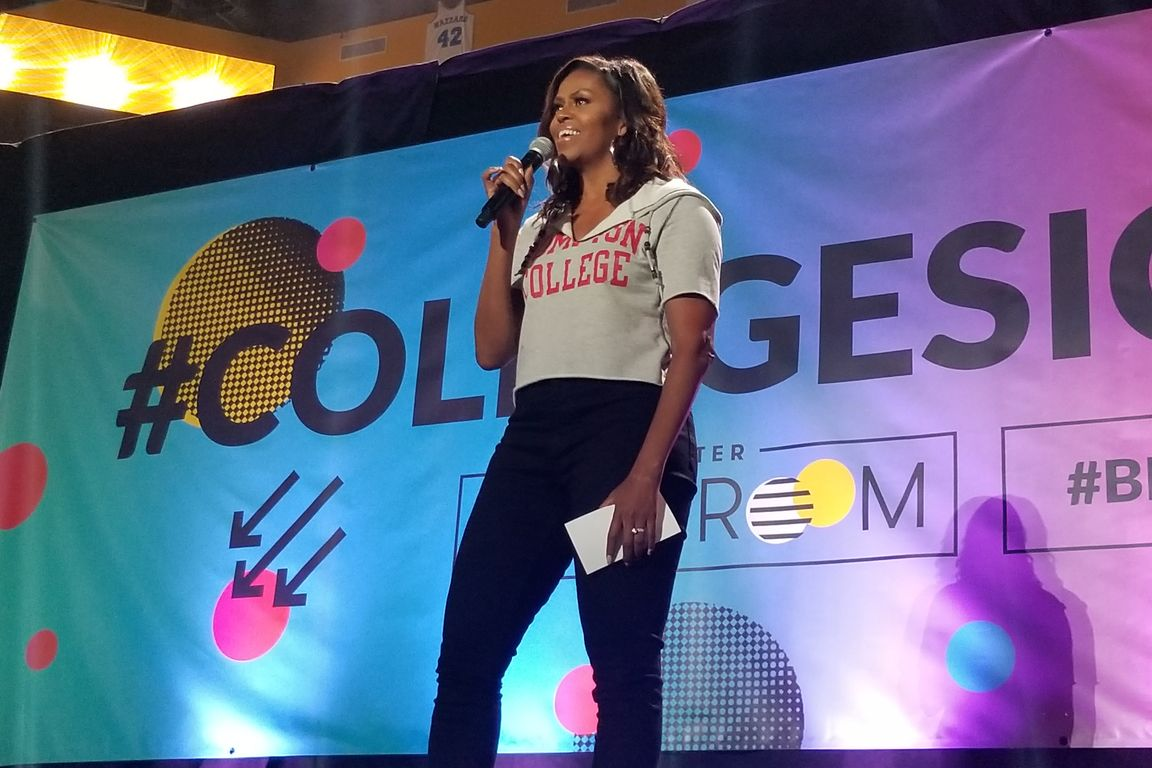 Michelle Obama at College Signing Day event