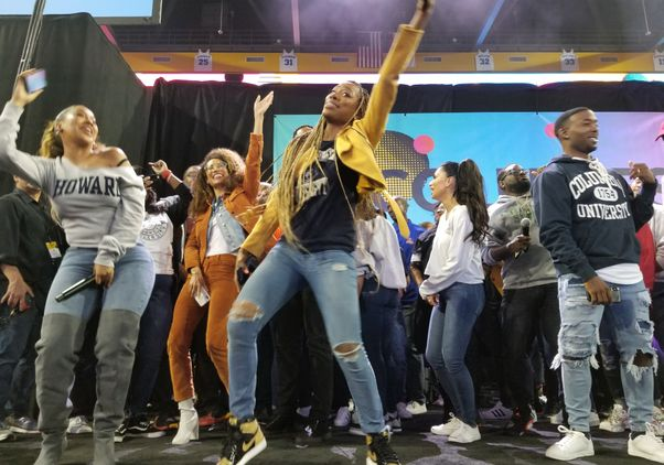 Dancing at College Signing Day