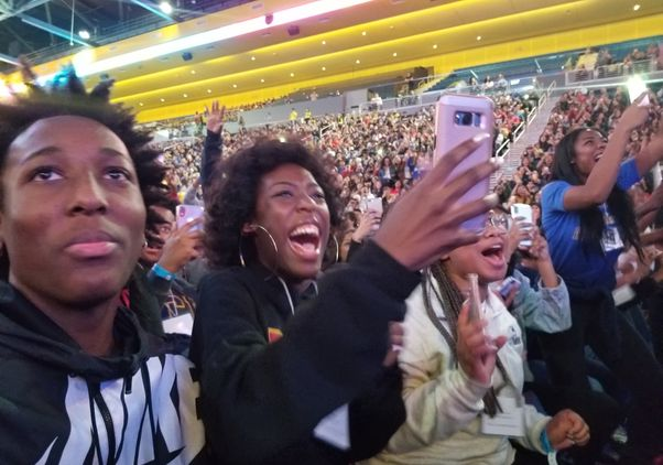 Crowd enjoys College Signing Day