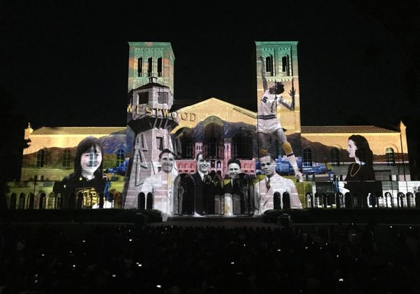 Royce Hall projection preview