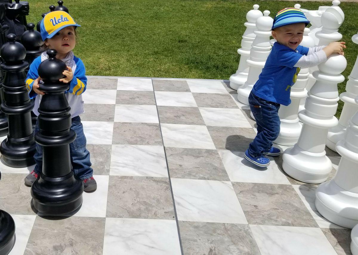 Children playing chess
