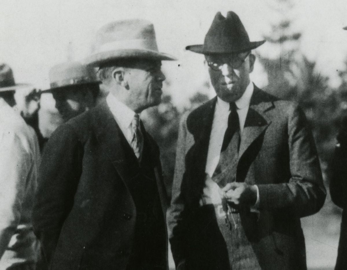 Edward Dickson, left, and Ernest Carroll Moore